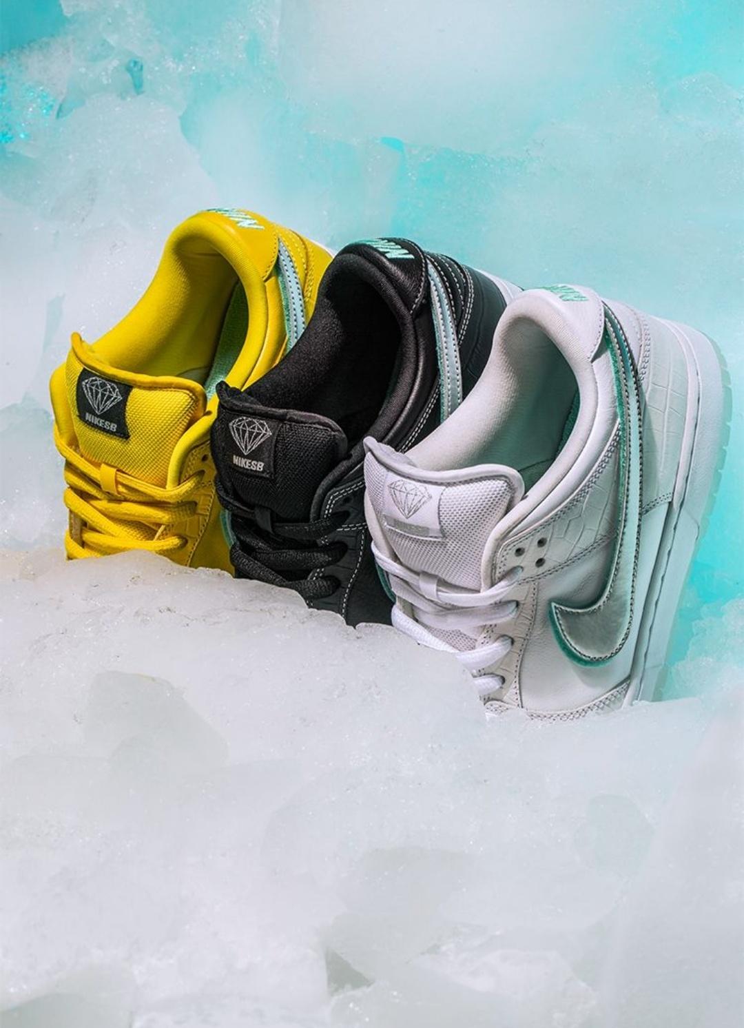 buy popular 0bb45 75bfd Nike SB 'Diamond Dunk' 20th Anniversary by Diamond Supply Co ...